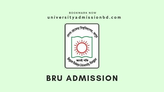 Begum Rokeya University Admission Circular 2019-20