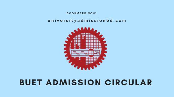 BUET Admission Circular