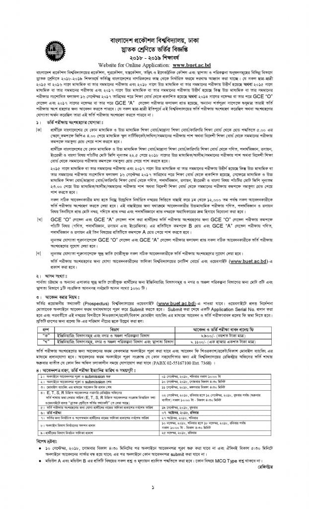 BUET admission notice 2019-20 (1)