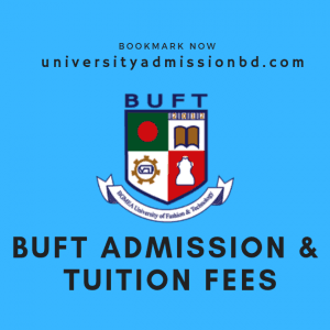 BUFT Admission 2020 and Bgmea University Tuition Fee 1