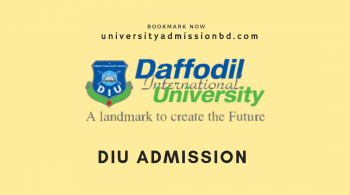 Daffodil International University Admission 2020-21 3