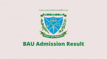 Bangladesh Agricultural University Admission Result