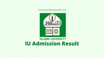 IU Admission Result
