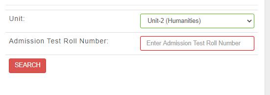 Jagannath University Unit 2 Result