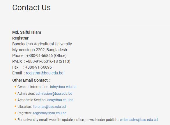 BAU Contact