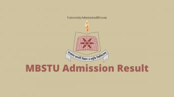 MBSTU Admission Result